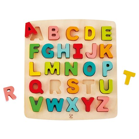 Chunky Puzzle Alphabet by Hape Chunky Alphabet Puzzle Thetot