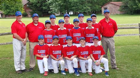 11 12 year old boys all star team includes clarion little league 11 and 12 year olds all star team