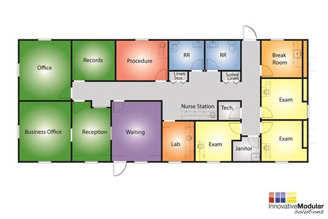 medical center floor plan available temporary or permament modular healthcare buildings
