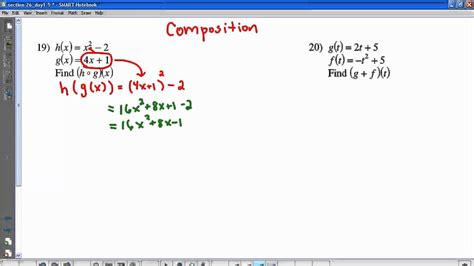 Function Operations Worksheet Answers by Kuta Composition