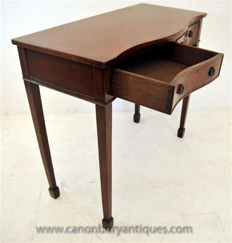 mahogany console table mahogany console table serpentine tables