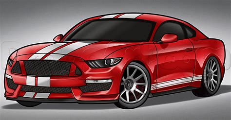 mustang drawing how to draw a 2016 shelby mustang by cars