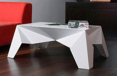 How To Make Origami Table - interesting origami table 2016