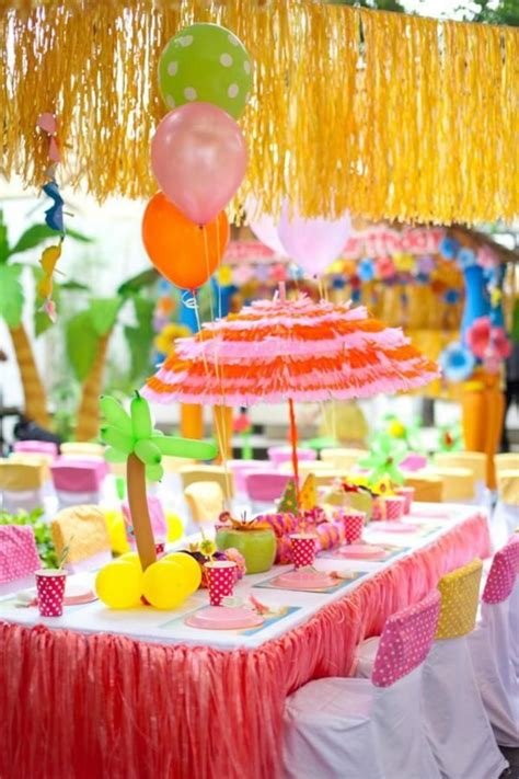 party themes luau luau table decorations ideas photograph pin luau party ide