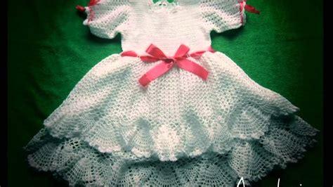 vestido en crochet para recin nacida vestidos a crochet para bebe recien nacido youtube