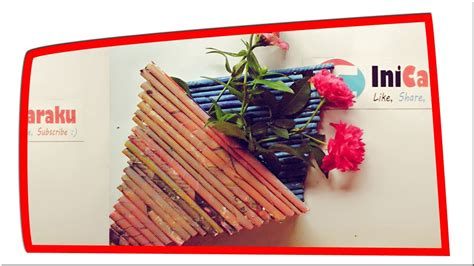 tutorial menggambar vas bunga kerajinan dari koran bekas membuat vas bunga tutorial