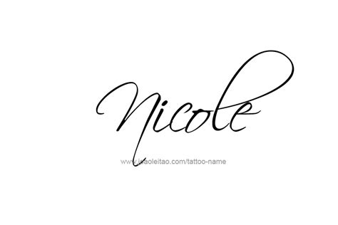 nicole tattoo designs name designs designs fonts and