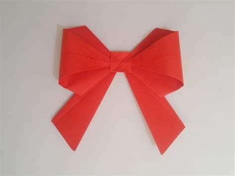 How To Make A Bow Out Of Paper - how to make paper bow