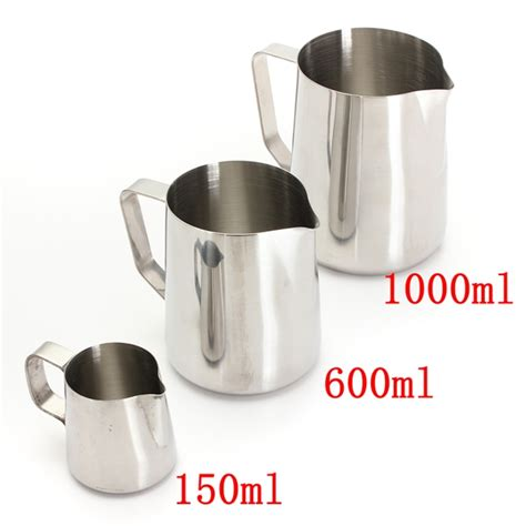 Milk Jug Stainless Steel 1000 Ml Murah buy 150 1000ml stainless steel lathe coffee milk pitcher