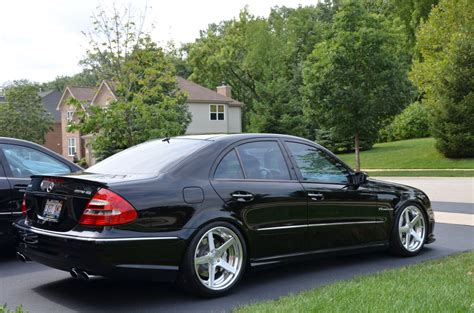 E 350 Airmatic Tieferlegen by Mercedes Benz E55 Amg W211 With Rennen Forged R5 X