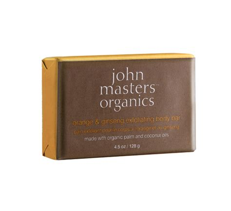 Ginseng Smooth Exfoliating orange ginseng exfoliating bar masters organics