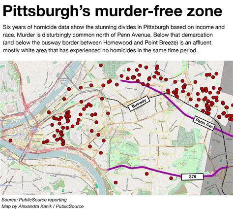 pittsburgh neighborhood map in pittsburgh neighborhood violence lives next door to prosperity publicsource