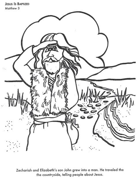 free bible coloring pages of john the baptist john the baptist coloring page bible class pinterest
