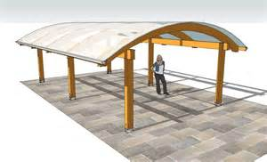 Curved Gazebo Roofs by Curved Glulam Canopy Cabinco Structures