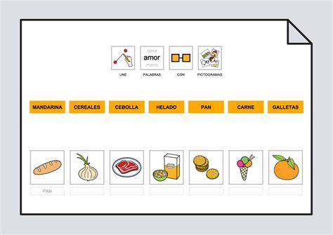 imagenes de secuencias temporales para imprimir relaciona texto con fotos y pictogramas los alimentos