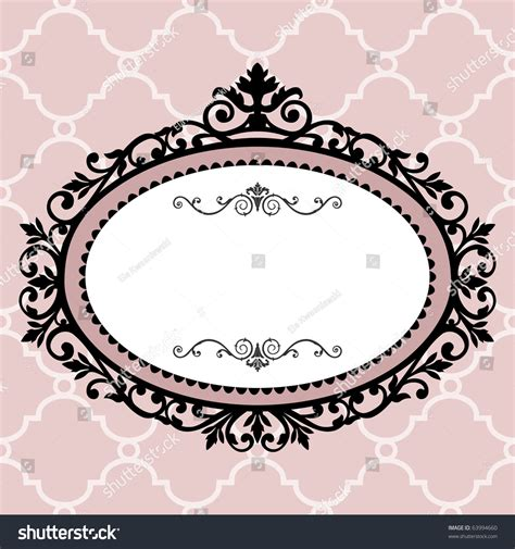 Ornament Chandelier Decorative Vintage Frame Stock Vector 63994660 Shutterstock