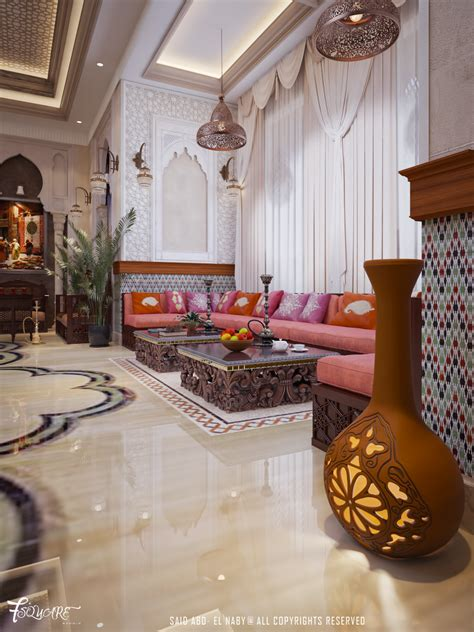 outdoor living space decorative dubai arabic majlis in dubai on behance