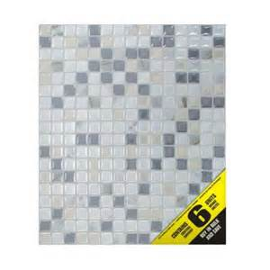 home depot peel and stick tile smart tiles 9 65 in x 11 55 in peel and stick mosaic