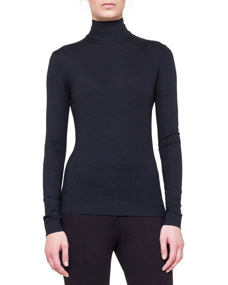 Mock Neck Slim Fit Knit Top akris punto sleeve mock neck top