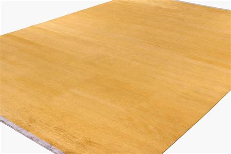 gold area rugs solid gold solid silk area rug with end panels for sale at 1stdibs