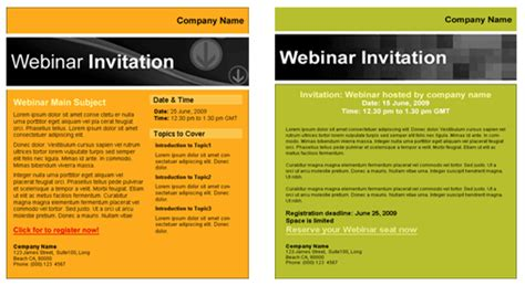 Webinar Templates For Email Marketing Webinar Announcement Template