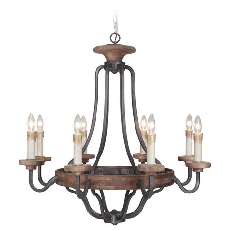 Whiskey Barrel Chandelier Jeremiah Lighting Ashwood Textured Black Whiskey Barrel Chandelier 36528 Tbwb Destination