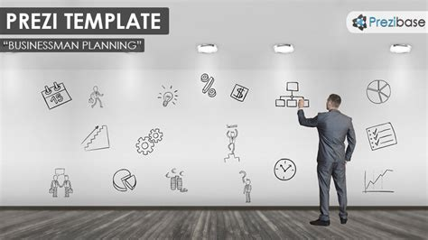 Businessman Planning Prezi Template Prezibase Prezi Template Ideas