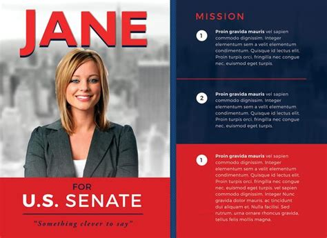 political brochure template political flyer template 3 by seraphimchris on
