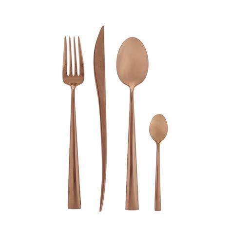 cutlery set buy cutipol duna 24 piece cutlery set copper amara