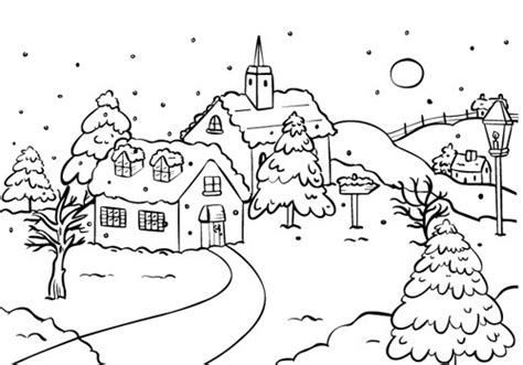 snow village coloring page embossing folders findittrading com findittrading com