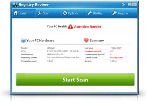 reviversoft registry reviver v3 0 1 106 incl