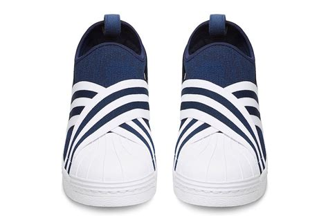 Adidas Slip On X Mountaineering Black Striped White Premium Original white mountaineering adidas superstar slip on sneaker