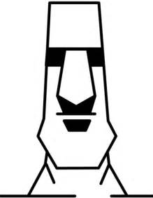 Easter Island Moai Statue coloring page   Free Printable