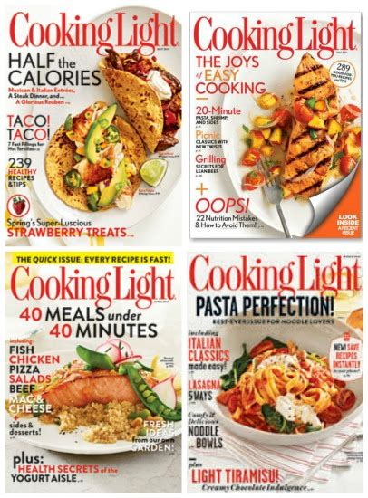 cooking light diet coupon code subscribe to 2 years of cooking light magazine for 19 99