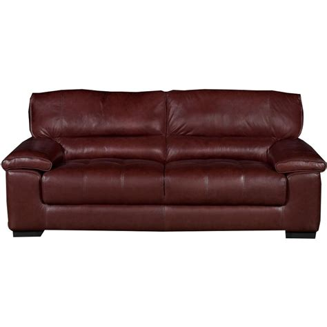 rc willey leather sofas milan 89 quot brown leather sofa