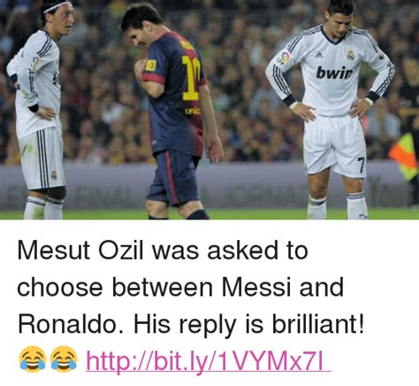 Ozil Meme - bwin mesut ozil was asked to choose between messi and
