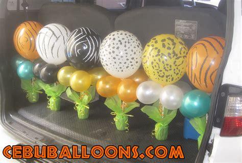 Safari Balloon Centerpieces Safari Theme Centerpieces Balloons On Sticks Centerpiece