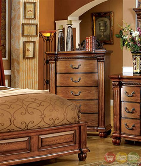 tuscan bedroom furniture oak bedroom sets king bed sizes shop factory direct 13619 | bellagrand luxurious antique tobacco oak bedroom set with french dovetail drawers cm7738 70