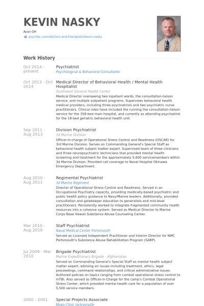 psychiatrist resume sles visualcv resume sles database
