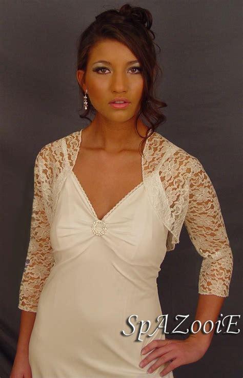 braut bolero ivory ivory lace bolero jacket wedding bridal shrug 3 4 sleeve