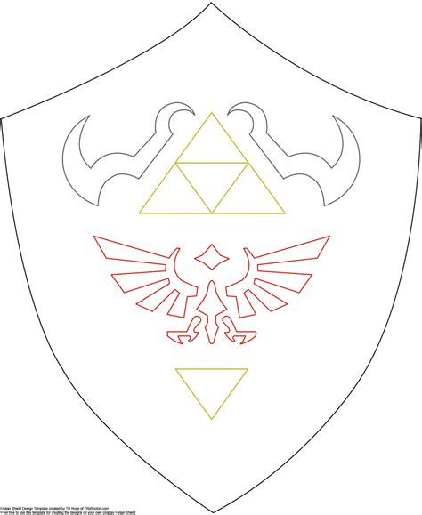 template link shield pattern for future link costume http www
