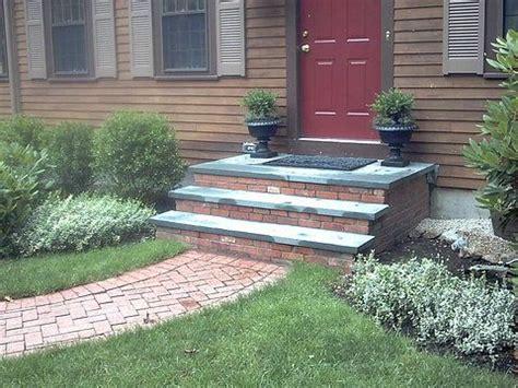 bluestone brick front entrance steps masonry patios blue stone and brick steps brick steps hanover ma