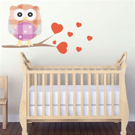 Kids Owl Wall Decal Nursery Wall Decal Murals Primedecals Owl Wall Decals Nursery