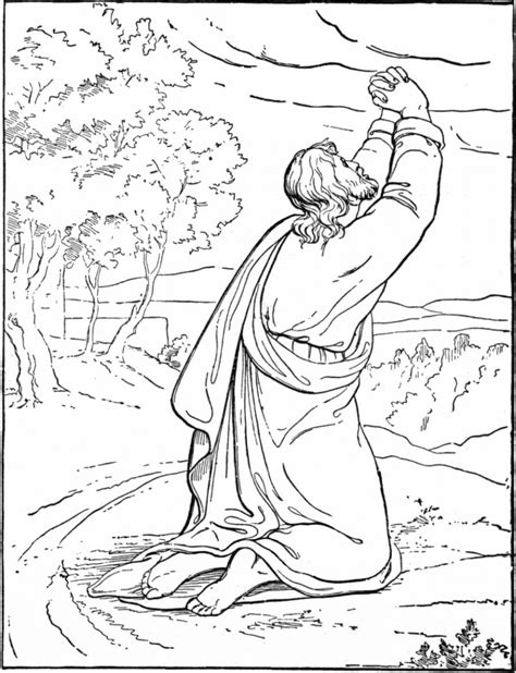 coloring pages jesus praying in the garden jesus praying in the garden of gethsemane photo