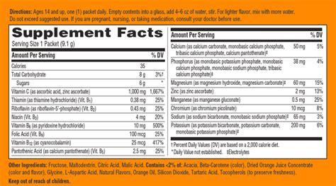 emergen c carbohydrates emergen c dietary supplement immune support antioxidants b