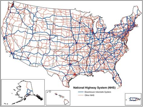 map us interstates roads map attack national highway system united states