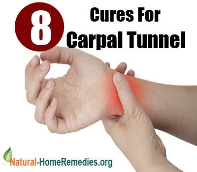 8 cures for carpal tunnel home remedies