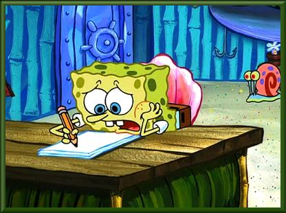 spongebob writing paper the gallery for gt spongebob