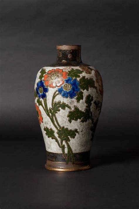 Poppy Vase by Ernest Chaplet Edouard Dammousse Poppy Vase For Sale