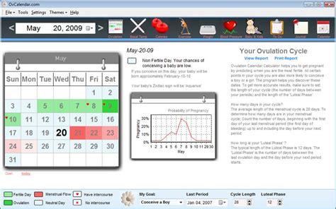 Calendar Fertility Method Calculator Fertility Charting Ovulation Calculator 2015 Personal